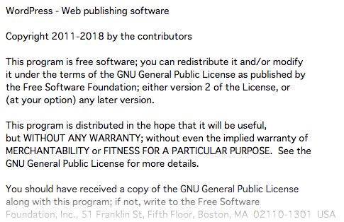 wordpress license